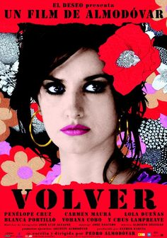Penelope Cruz talks about the movie Volver, written and directed by Pedro Almodovar. Penelope Cruz on her friendship with Almodovar, the Oscar buzz, supernatural elements of Volver, and the prosthetic butt rumors. It Movie Cast, Love Movie, Film Movie, Sahara Movie, Almodovar Films, Cinema Posters, Movie Posters, Cast Images, Film Images