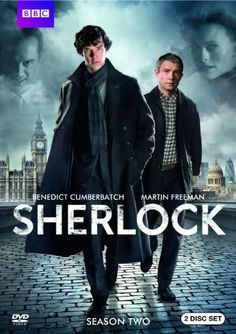 Sherlock: Season Two: Nominated for 4 primetime Emmys, Sherlock is back with Benedict Cumberbatch as Holmes and Martin Freeman as Watson in three new stories.  ;) seriously love this~