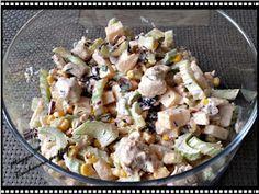 Maggie79 Kuchenne podboje: SAŁATKA z SELEREM naciowym, KURCZAKIEM i... Salad Recipes, Potato Salad, Potatoes, Ethnic Recipes, Food, Pineapple, Potato, Essen, Meals