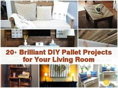 20 Pallet Projects!   http://www.mixer2mower.com/20-brilliant-diy-pallet-projects-for-your-living-room.html