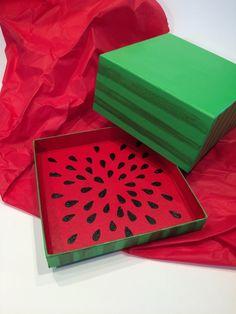 Geschenkbox Wassermelone selbst bemalt - HELLO MiME!