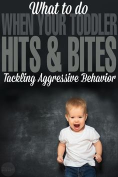 What to do When Your Toddler Hits & Bites: Tackling Aggressive Behavior.just in case this is ever an issue Toddler Behavior, Toddler Discipline, Preschool Behavior, Parenting Toddlers, Parenting Advice, Parenting Classes, Toddler Biting, Terrible Twos, Frugal