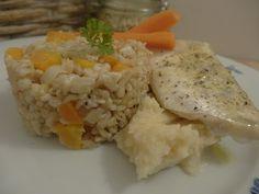 Czary w kuchni- prosto, smacznie, spektakularnie.: Sandacz podany na puree z selera Grains, Rice, Food, Essen, Yemek, Jim Rice, Eten, Meals, Brass