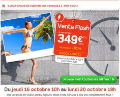 Vente flash Look Voyages promo voyage pas cher, partez en vacances à partir de 399.00 € avec Look Voyages