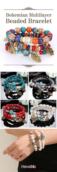 [Newchic Online Shopping] 46% OFF Bohemian Multilayer Beaded Bracelet