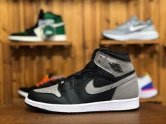 708fd699f0b2e1 Air Jordan 1 Retro High OG Shadow Color  Black Medium Grey-White Style