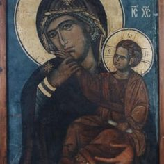 One of the glories of our Orthodox church is its use of iconography. And one of the most familiar figures in Orthodox Iconography is the Virgin Mary, the Theotokos. Religious Images, Religious Icons, Religious Art, Byzantine Icons, Byzantine Art, Paint Icon, Images Of Mary, Mama Mary, Best Icons