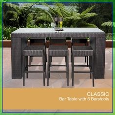 bar patio table for sale #bar #patio #table #for #sale Please Click Link To Find More Reference,,, ENJOY!! Outdoor Bar Sets, Outdoor Bar Table, Patio Bar Set, Patio Table, Outdoor Decor, Outdoor Dining, Dining Table, Outdoor Spaces, Dining Sets