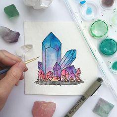 Shiny rainbow crystals!!