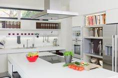 Healthy food on modern kitchen counter