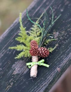 UPDATED 2019 rustic boutonnieres for your woodland-inspired wedding. Each boutonniere is handmade to last forever Forest Wedding, Woodland Wedding, Fall Wedding, Diy Wedding, Wedding Forrest, Wedding Ideas, Wedding Rustic, Winter Mountain Wedding, Rustic Weddings