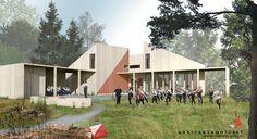 Mock up of the new hiking cabin for Haugesunds Orienteringsklubb // Arkitektkontoret Brekke Helgeland Brekke AS