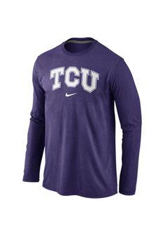 Nike Men s Long-Sleeve Texas Christian Horned Frogs Wordmark T-Shirt Men -  Sports Fan Shop By Lids - Macy s 699f7981e