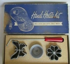 Vintage Handi Hostess Kit-WAF-L-ETTE AND PATTY SHELL MOLDS