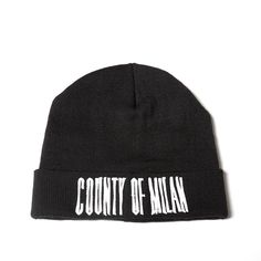Sajama beanie from the F/W2016-17 Marcelo Burlon County of Milan collection in black