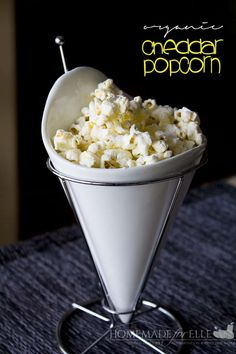 How to Make Cheddar Popcorn | Homemade for Elle