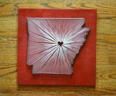 Arkansas State String Art - Arkansas Razorbacks. $55.00, via Etsy.