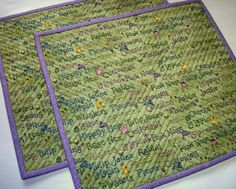 Easter Snack Mats Mug Rugs Placemats Reversible by atthebrightspot, $28.00