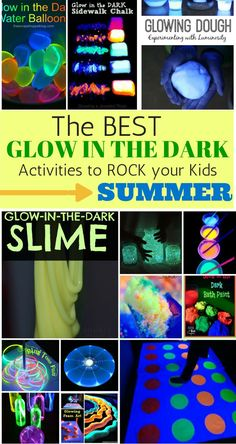 My kids will go crazy over these GLOW IN THE DARK activities! What a fun night time activity!