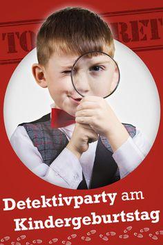 """Für Kinder, die """"Fünf Freunde"""" und """"Die Drei Fragezeichen"""" verschlingen, ist eine Detektivparty der absolute Hit! Mit PDF-Vorlagen zum Download"""