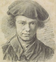 Barend Cornelis Koekkoek - Zelfportret met baret