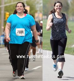Runs for Cookies - Katie lost 125 lbs in 16 months, she blogs about running and clean eating #blog #fitness