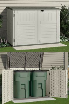 Horizontal Plastic Storage Shed Quality Sheds