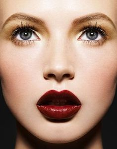 Gold eyeshadow and red lipstick. RMS Eye Polish in Solar, Ilia Lipstick in Strike it Up with Lily Lolo Gloss in Clear