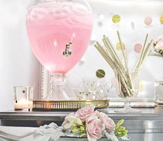 Pink + Gold Bridal Shower Decorations and Inspiration — Showerbelle | Host a Happy Bridal Shower