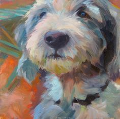 Anette Power - Easel Escapes This looks like my wirehaired weiner dog Fletcher Dave Johnson - who I love and miss!