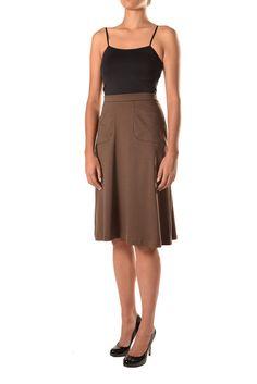 A-Line Skirt With Pockets Waist Skirt, Midi Skirt, High Waisted Skirt, Skirts With Pockets, A Line Skirts, Fashion Design, Collection, Tops, Midi Skirts