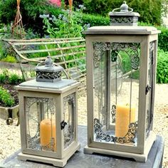 Adobe Small Prague Garden Lantern Gardens Garden lanterns and