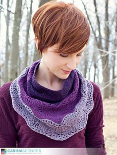 Brush Creek Cowlette - Also available as a shawl. I love Carina Spencer's designs. I've made her Zuzu's petals and loved it - this is a similar idea but the ombre look is absolutely stunning!