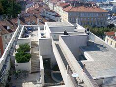 Carlo Scarpa (1906-1978) concetto e implementazione (1961-1968), compimento Franco Vattolo e Giampaolo Bartoli (1968-1992)   Museo Revoltello, Galleria d'Arte Moderno   Trieste, Italia   1963-1992