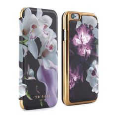 Amazon.com: Official TED BAKER® SS16 iPhone 6 / 6S Case for Women, Luxury Folio Case / Cover with Built-In Interior Mirror for Apple iPhone 6 and iPhone 6S - MARIEL - Black: Cell Phones & Accessories