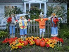 This would be cute if they were made to hold rakes in a yard full of leaves.