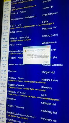Frankfurt Central Station at the train timetable #bsod #pbsod