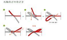 水引の結び方 Tie with mizuhiki 双輪結び