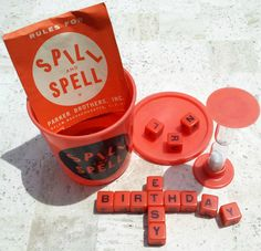 Vintage Spill and Spell Dice Game...we just found a very old version of this game..looks like an antique