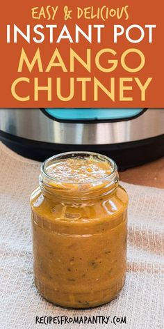 This quick & easy Instant Pot Mango Chutney recipe is full of tangy, spicy, savory flavor and has SO many uses. No need to buy at the store when you can learn how to make your own Mango Chutney in the Instant Pot! This healthier Indian sauce made with maple syrup goes well on chicken, salmon, roasts, sandwiches, and more. Click thru to get the best Instant Pot Mango Chutney recipe. #instantpot #instantpotrecipe #mangochutney #instantpotmangochutney #instantpotrecipe #vegan #glutenfree… Best Instant Pot Recipe, Instant Pot Dinner Recipes, Indian Sauces, Potted Beef Recipe, Homemade Spices, Chutney Recipes, Maple Syrup, Roasts, Glutenfree