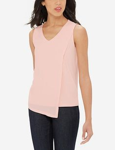 Asymmetrical Layered Front Top from THELIMITED.com