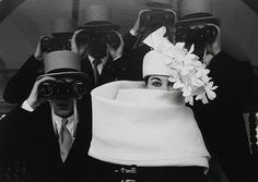 Givenchy Hat, Paris 1957   Photo by Frank Horvat