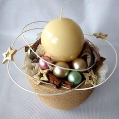Vánoční svícen v pastelových barvách Christmas 2015, Breakfast, Diy, Food, Morning Coffee, Bricolage, Essen, Do It Yourself, Meals