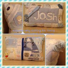 Baby grow keepsake pillow