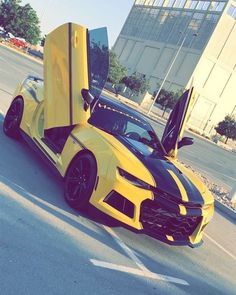 """Swift_Camaro on Instagram: """"Bee is ready to Roll out 😈🐝 Owner: @bumblebee.uae ••••••Use code """" Swift """" for 10% off @toplabel products ! —————————————— Partners :…"""" Camaro 2016, Camaro Car, Chevrolet Camaro, Transformers Cars, Transformers Bumblebee, Yellow Camaro, Top Luxury Cars, Camaro Concept, Lamborghini Cars"""
