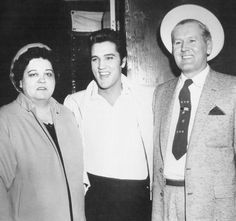 "takingcare-of-business: ""Elvis with his parents, Gladys and Vernon """