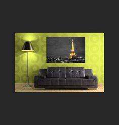 Toile Photo - Tour Eiffel Illuminée