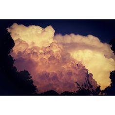 #C.loud #cloud #fluffy #orange #pink #florida #sunset