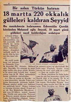 çanakkale Newspaper Headlines, Old Newspaper, Martyrs' Day, Turkish People, Past Tense, Ottoman Empire, World War I, Pictures, World War One