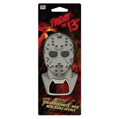 Friday the Jason Mask Metal Bottle Opener - ICUP - Horror: Friday the - Bottle Openers at Entertainment Earth Horror Scream, Unique Bottle Openers, John Duncan, Horror Posters, Jason Voorhees, Friday The 13th, Halloween Decorations, Halloween Party, Entertaining